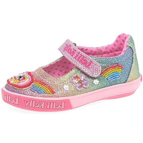 3f58b75d3bf3 Lelli Kelly Rainbow Sparkle Dolly Girls Infant Canvas Shoes 6.5 Std Unless  Stated in Colour Multi