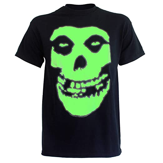 b867709ec8f6 Amazon.com: The Misfits - Glow In The Dark Skull Mens T-Shirt In ...