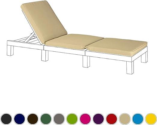 piedra cojín de asiento de repuesto para Keter Allibert Daytona exterior tumbona: Amazon.es: Jardín