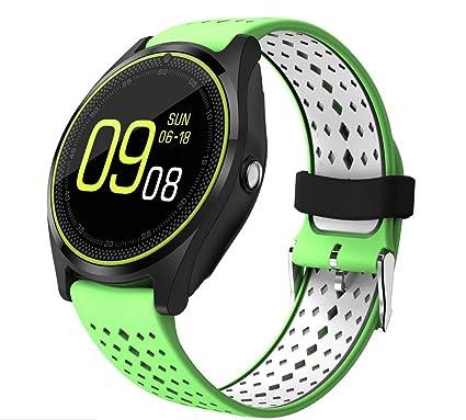 XYQY Bluetooth Smart Watch Phone V9 con 2G SIM/SD Tarjeta ...