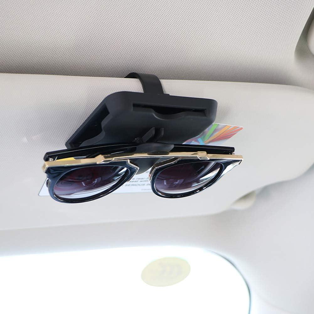 Porta Gafas Para Coche Soporte Gafas Accesorios del coche Interior Gafas de lectura de Visor gafas Visor gafas de sol Black,One Size