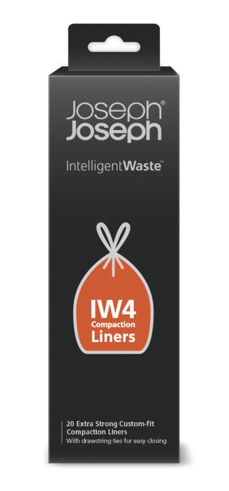 Joseph Joseph 30027 Intelligent Waste IW4 Compaction Bin Liners for Titan 8 gallon / 30 liter, Pack of 20, Black by Joseph Joseph