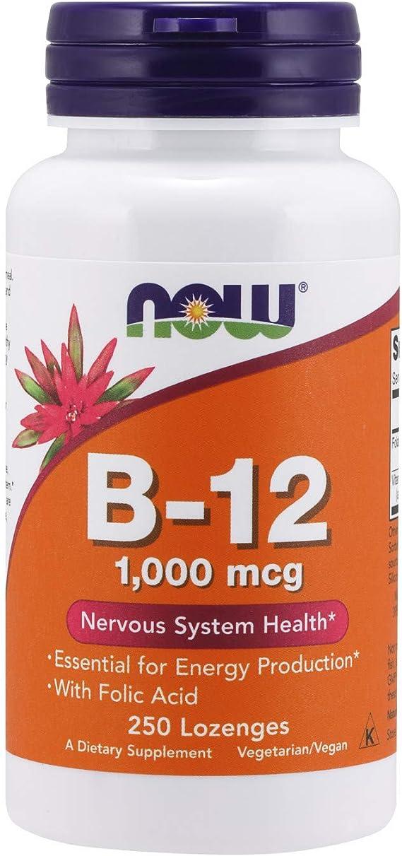 Now Foods La vitamina B-12 con ácido fólico, 1000mcg - 250 pastillas 250 Unidades 110 g