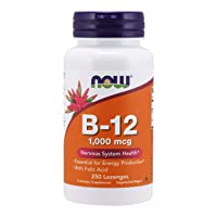 NOW Supplements, Vitamin B-12 1,000 mcg with Folic Acid, Nervous System Health*, 250 Chewable Lozenges