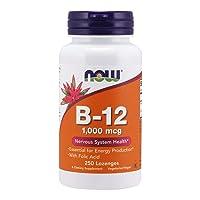 NOW Supplements, Vitamin B-12 1,000 mcg with Folic Acid, Nervous System Health*,...