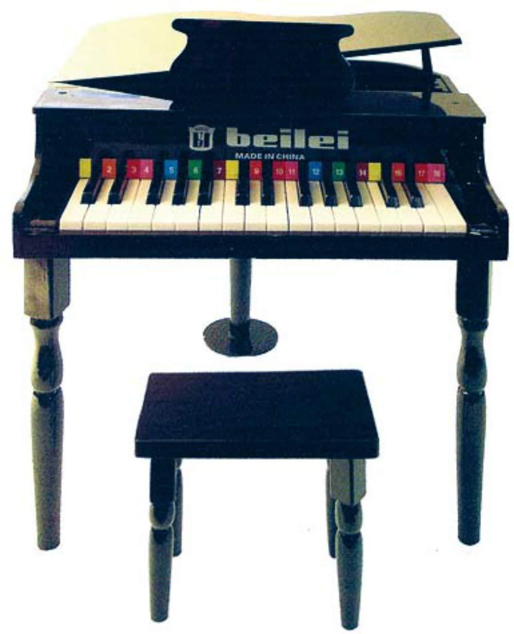 CAPRILO Instrumento Musical Infantil Decorativo Piano Grande Negro . Juegos y Juguetes de Colección. Réplicas de Instrumentos Musicales. Regalos Originales. Reyes y Navidad.