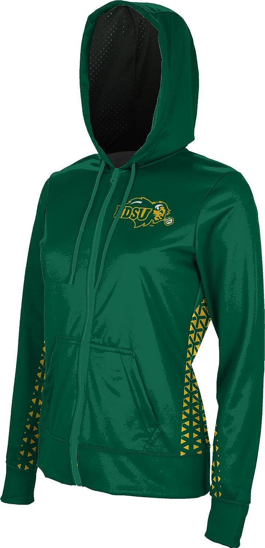 Geometric North Dakota State University Girls Zipper Hoodie School Spirit Sweatshirt