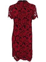Betsey Johnson Women's Mock Neck Lace Dress