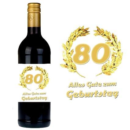 Botella Etiqueta para 80 cumpleaños para botellas de vino y champán, como regalo Idea para