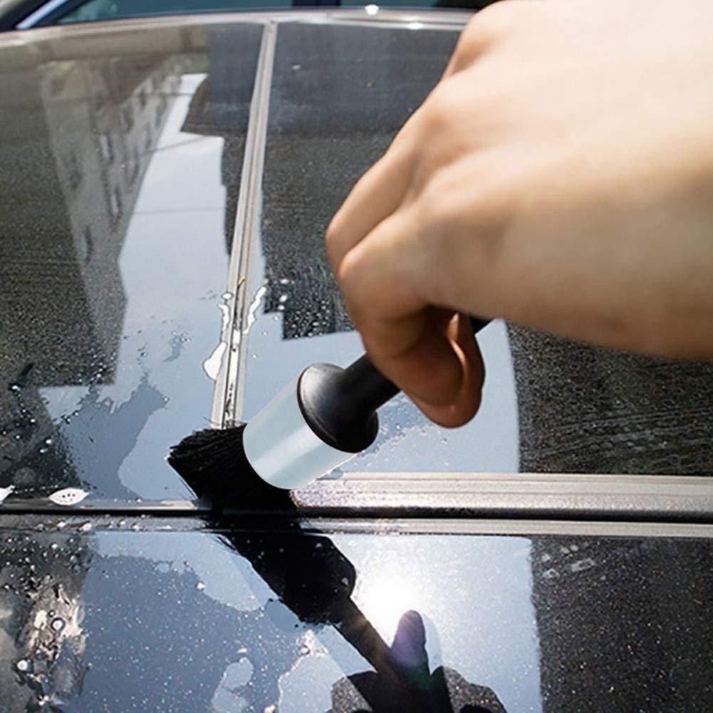 Red Koueja101 5Pcs/Set Car Maintenance Detailing Brushes Wheel Interior Seat Cleaning Tool Cleaning Kits