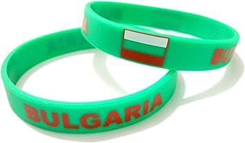 Unisex de bandera de pulsera de goma de silicona país mtong muñequera barrar Bulgaria: Amazon.es: Deportes y aire libre