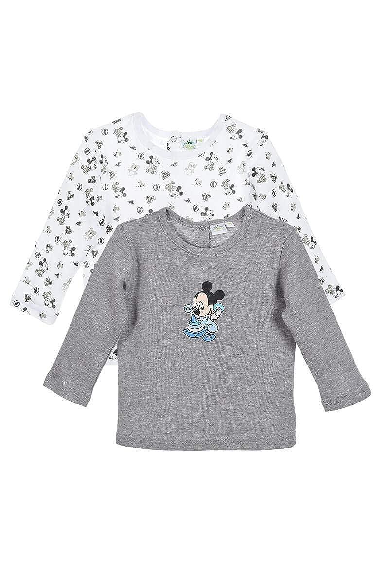 Set de 2 t-shirts en coton bébé garçon Mickey 22945