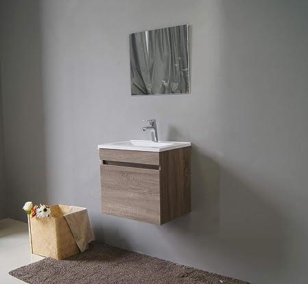 Meuble de salle de bain avec miroir et lavabo Marque  -/Movian Sauldre Blanc 81/x/46,5/x/49/cm