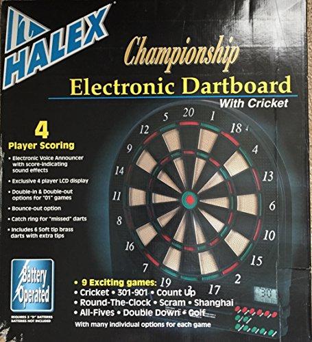 Halex Championship Electronic Dart Board with Cricket by Halex