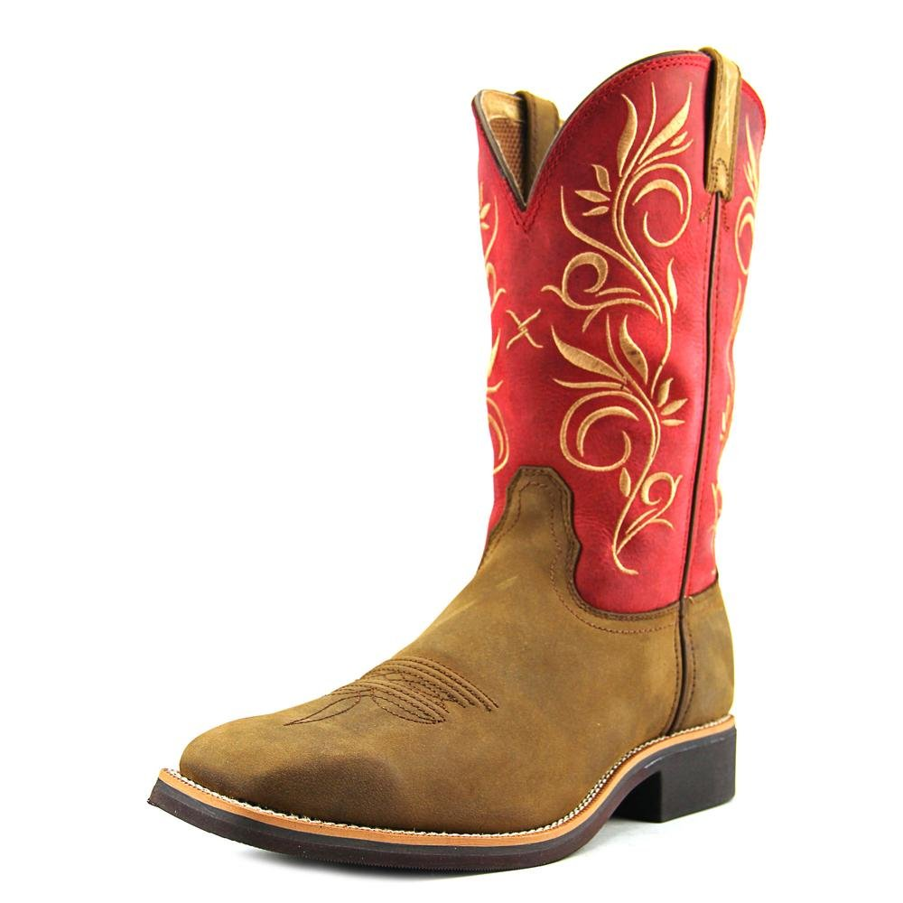 Twisted X Womens Red Leather 11in Distressed Top Hand Cowboy Boots 10B
