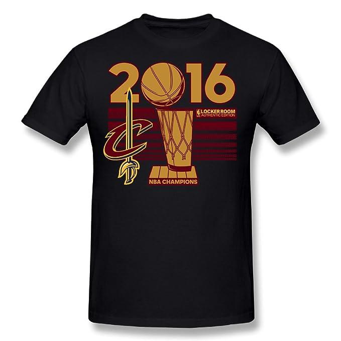 CXY Hombres de Cleveland Cavaliers 2016 NBA Finals Champions camiseta negro: Amazon.es: Libros