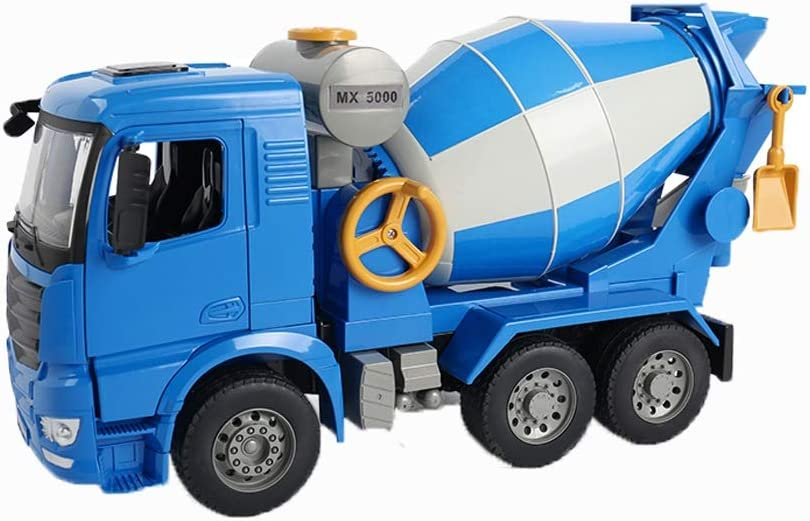 LHY Durable Juguete Camiones de Juguete de construcción de vehículos de Juguete Carro del Tractor de Remolque de Tractor motocultor Camiones de Juguete for los niños Robusto (Color : Cement Tanker)