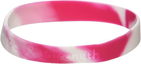 12 Pink Ribbon Camouflage Breast Cancer AWARENESS Bracelets Wrist Band New!