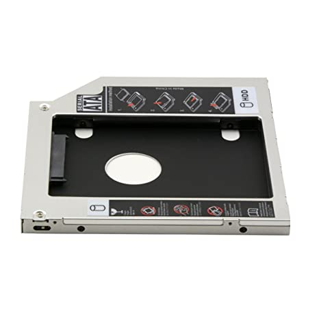 cablecc caja para 9,5 mm SATA 2 nd HDD SSD disco duro Caddy ...