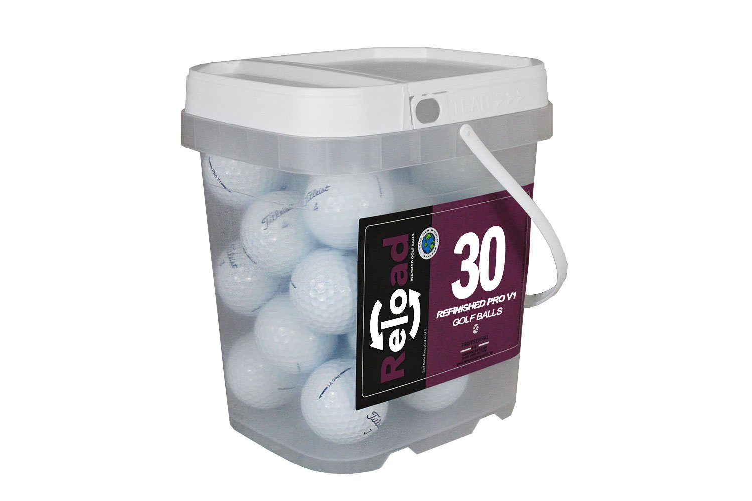 Reload Recycled Golf Balls Titleist Pro v1 Refurbished Golf Balls (30 Pack)