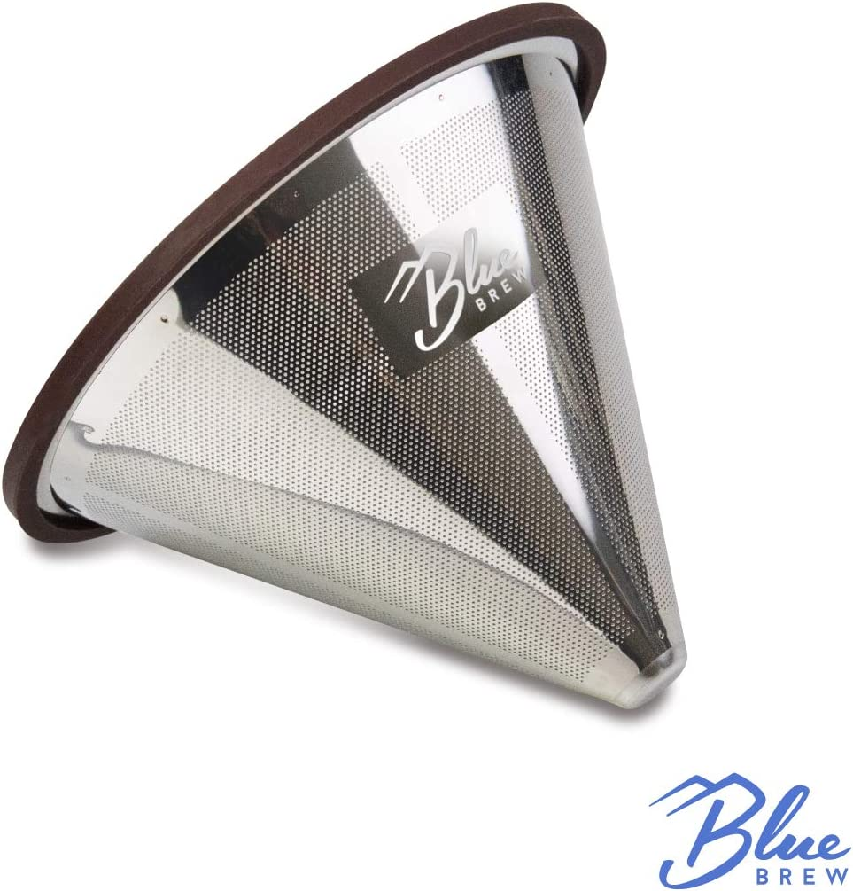 Blue Brew Stainless-Steel Pour Over Coffee Dripper