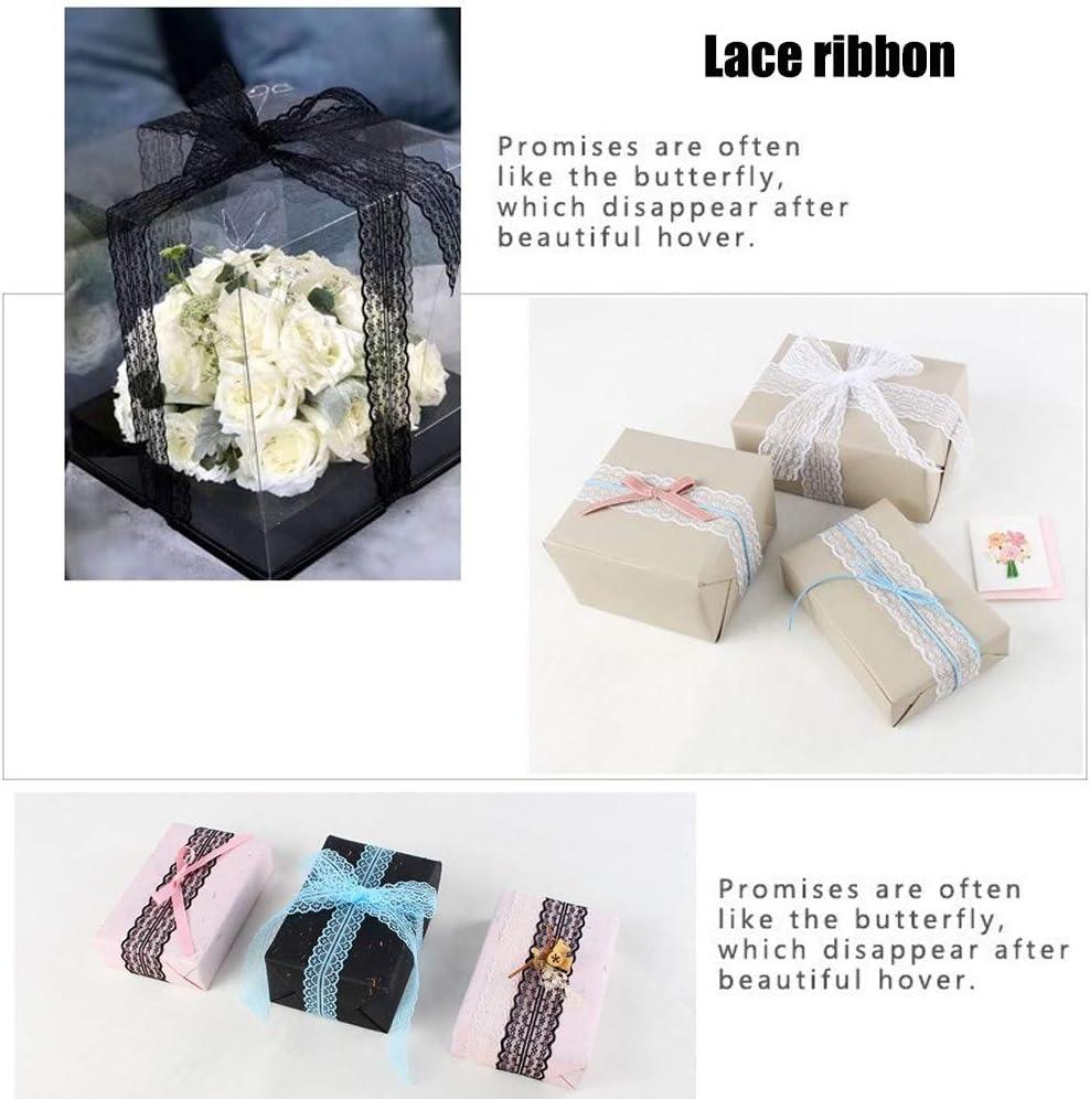 Lady of Luck 5 PCS Pizzo Nastro per Decorazione Matrimonio Fai da Te Imballaggio Taglio Nuziale da Sposa in Pizzo per Artigianato Decorazione 10M// Ciascun