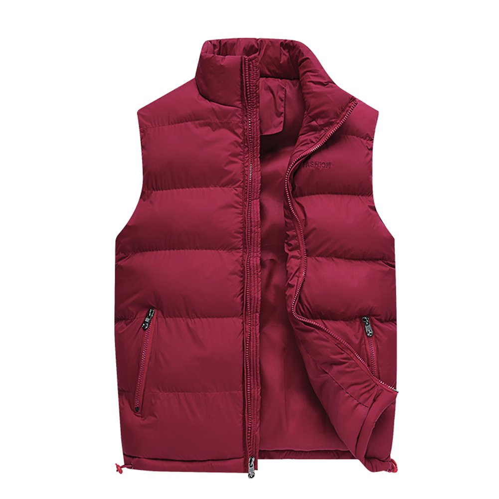 Only Faith Warm Men's Zipper Sleeveless Cotton Jacket Outdoor Padding Puffer Vest