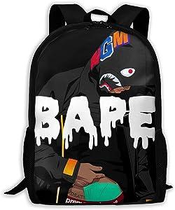 Shark Pattern Ape Blood Backpack For School Travel Laptop Daypack 3d Print Bag For Men 1