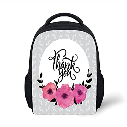 a73c0d7358e0 Amazon.com: iPrint Kids School Backpack Modern Decor,Rounded Thank ...