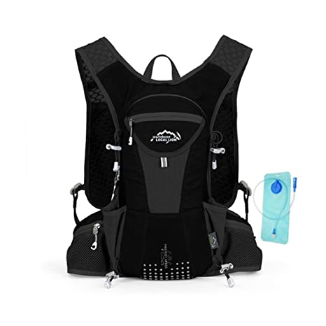 LOCALLION Hiking Cycling Backpack Marathon Hydration Vest Pack for 1L Water Bag Cycling Outdoor Sport Running