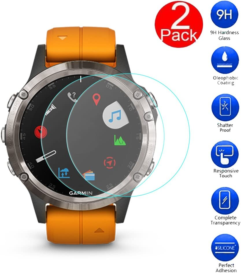 MaxKu [2 Pack] Garmin Fenix 5 Plus Protectores de Pantalla, 3D ...