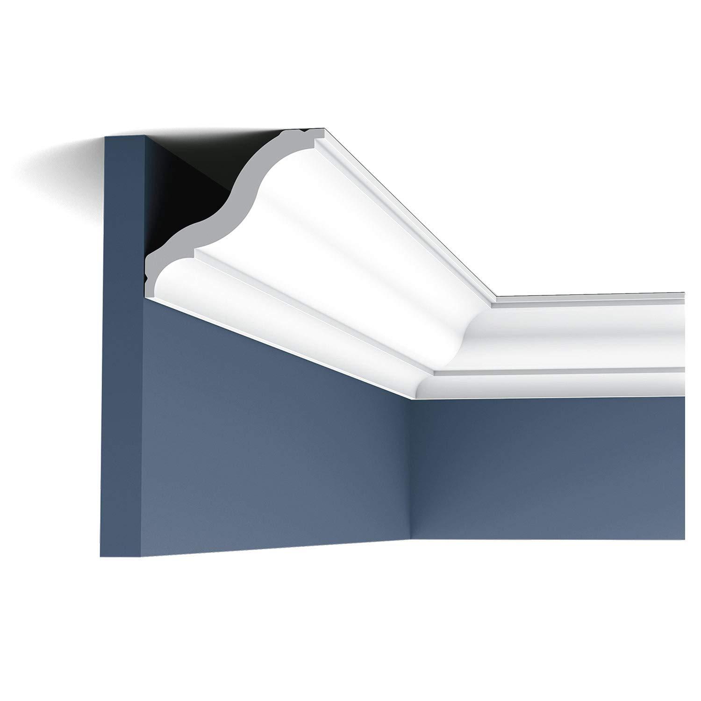 Moldura Cornisa Perfil de estuco Orac Decor CB503 BASIXX Elemento decorativo de pared y techo 2 m