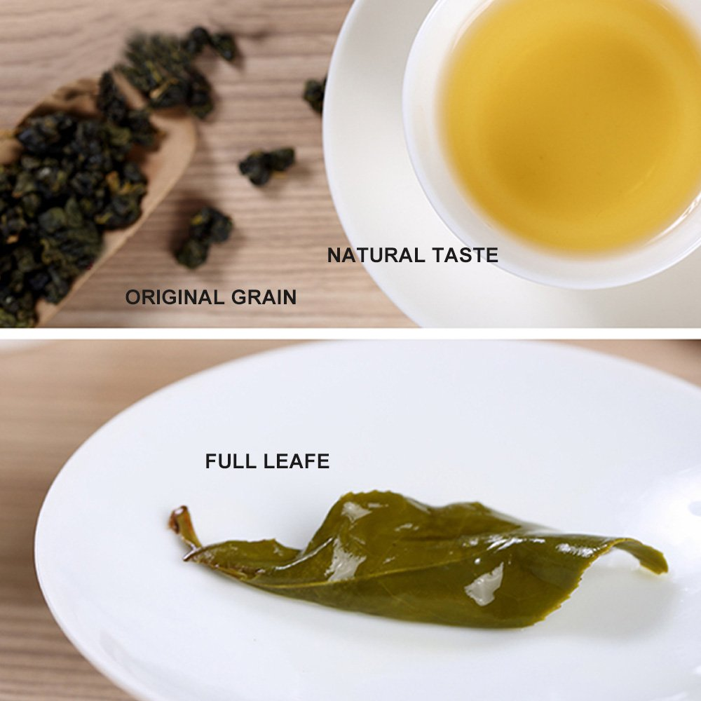 Yan Hou Tang - Organic Taiwan Dong Ding Herbal Oolong Tea Bake Aroma Flavor Taste Half Cooked 35% Ferment Loose Leaf Formosa High Mountain Wulong Grown Summer for Detox Weight Loss FDA SGS