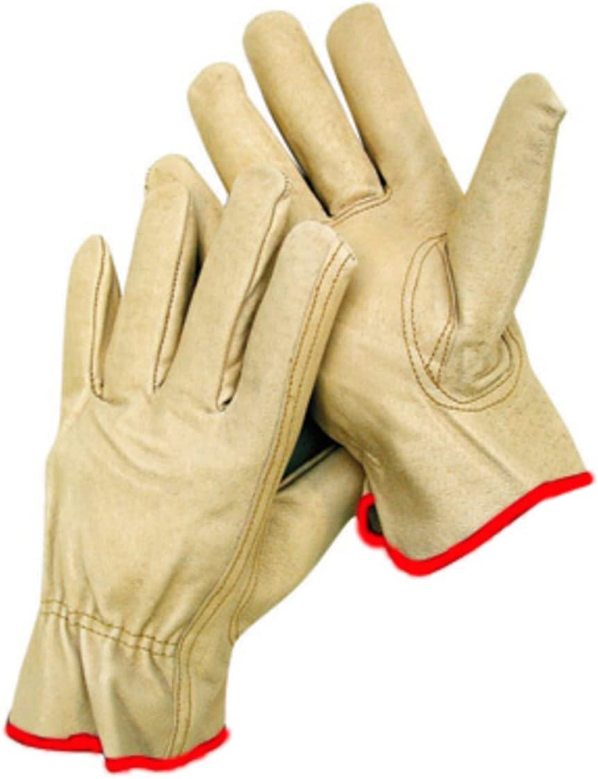 MEDIUM WORK GLOVES 12 Pair Durable Cowhide Leather for Construction Small to XX Large Sizes Available Industrial /& Personal Use