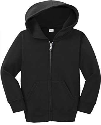 397c2f79d Toddler Full Zip Hoodies - Soft and Cozy Hooded Sweatshirt, Jet Black, 2T
