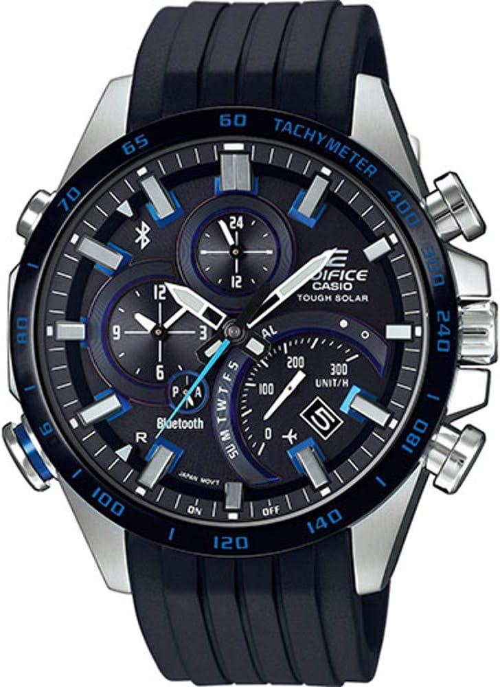 Smartwatch híbrido Casio Edifice EQB-501XBR-1AER: Amazon.es: Relojes