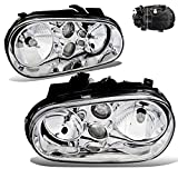 SPPC Chrome Headlights Set for VW Volkswagen Golf MK4 And Cabrio With Fog Lamp - (Pair)