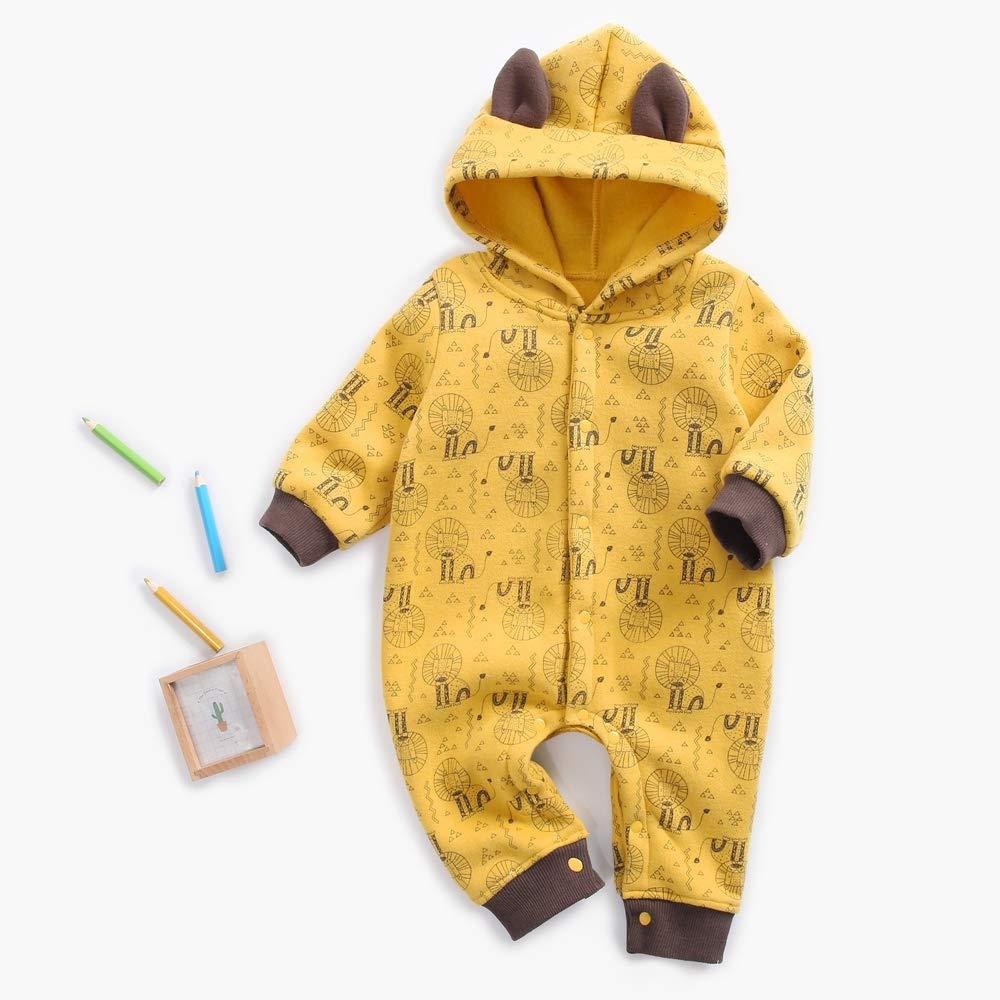 Sanlutoz Cartone Animato Stampa Bambino Body Inverno Cotone Bambino Pagliaccetto con Le Orecchie