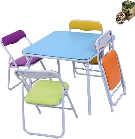 Juego de 5 sillas y Mesa niños: Amazon.es: Hogar