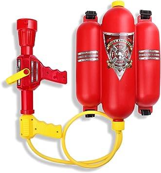 Wasserspritze Wasserpistole Feuerwehrmann Kinder-Feuerlöscher Karneval Sam Neu
