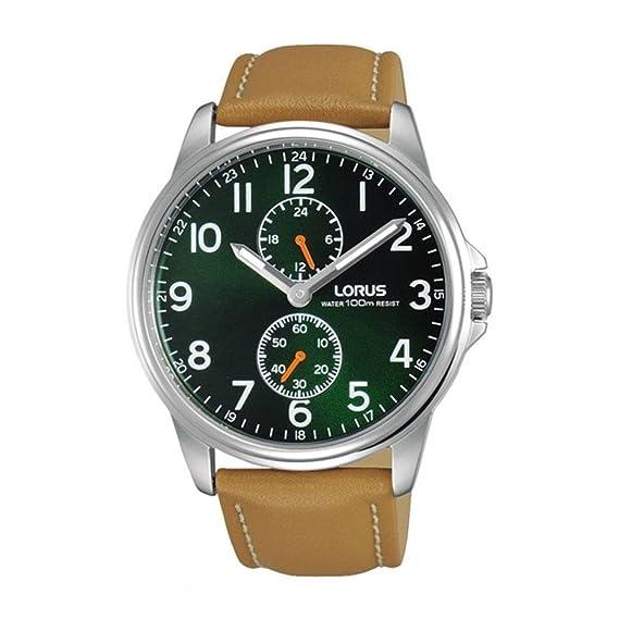 Lorus Reloj Analógico para Hombre de Cuarzo con Correa en Cuero R3A07AX9: Amazon.es: Relojes