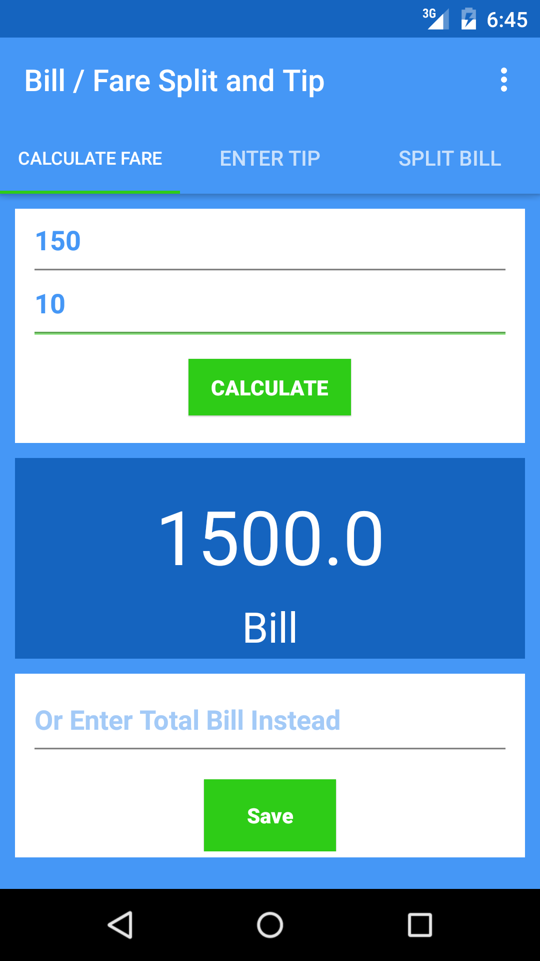 taxi fare calculator tip and split bill. Black Bedroom Furniture Sets. Home Design Ideas