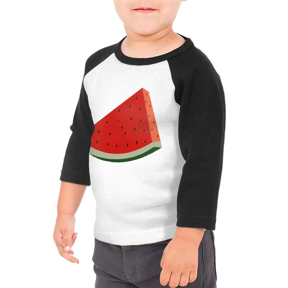 Manlee Watermelon Unisex 100/% Cotton Childrens 3//4 Sleeves T-Shirt Top Tees 2T~5//6T