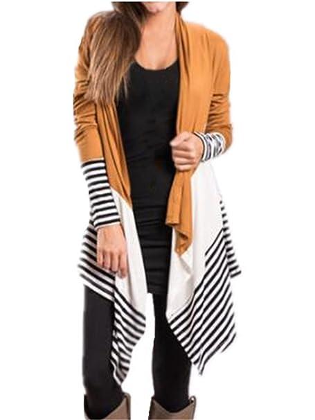 Tayaho Abrigos Mujer Blusas Manga Larga Abrigos Largo Irregular Caída Coat Ocasionales Casuales Outwear Tallas Grandes