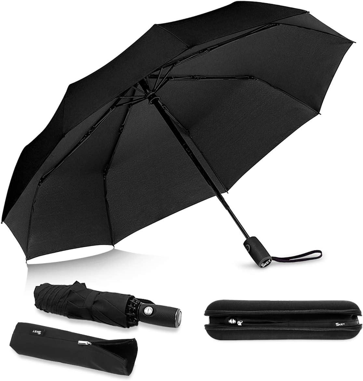 Sac parapluie SKEY parapluie invers/é coupe-vent rev/êtement en t/éflon vitesse de pointe 140 km // h y compris sac parapluie et interrupteur automatique de valise