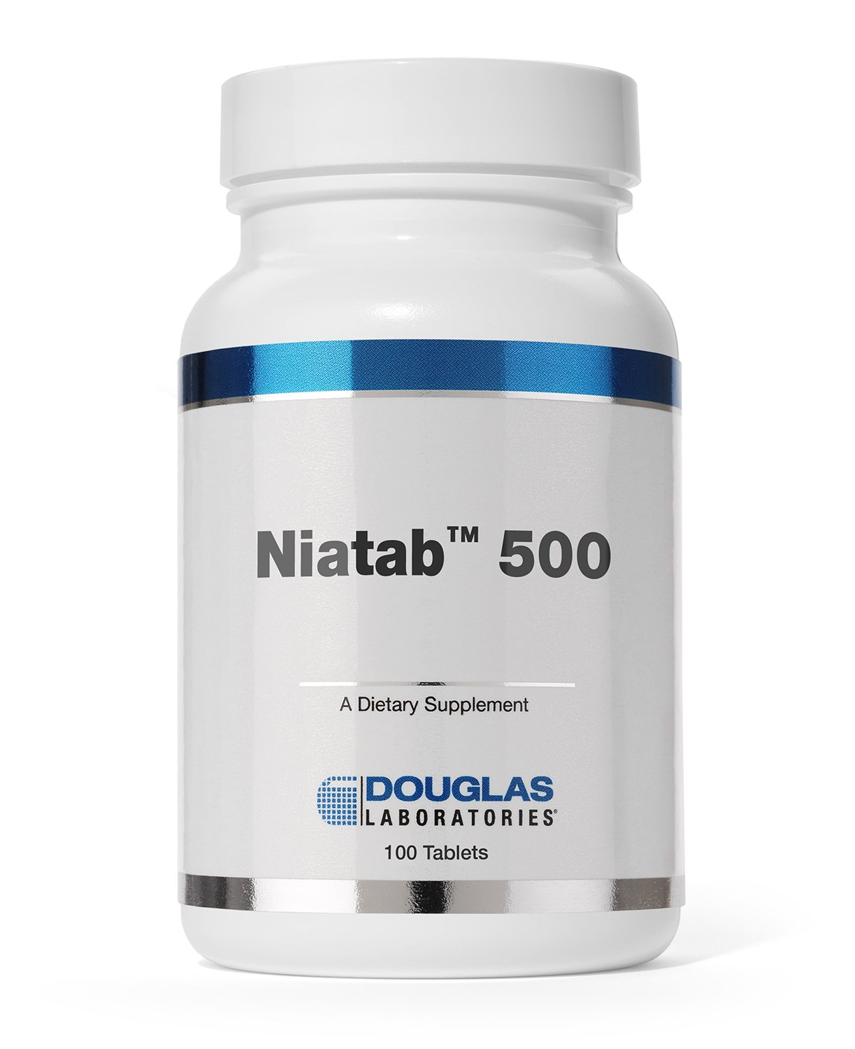 Douglas Laboratories - Niatab 500 - ''No-Flush'' High Potency Niacin with Sustained Release to Support Cardiovascular Health* - 100 Tablets