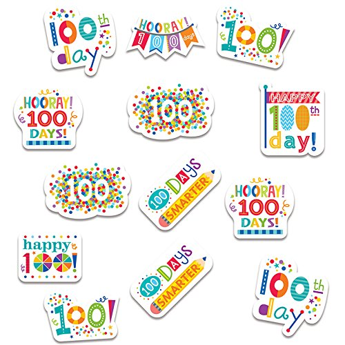 ess Happy 100th Day Stickers (100th Day Of School Stickers)