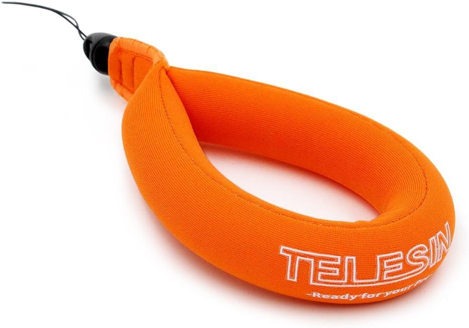 Orange /& Green 2 Pack TELESIN Waterproof Floating Foam Wrist Strap for Digital and Action Cameras