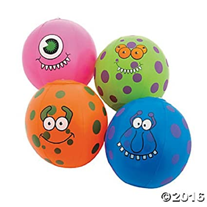 "Amazon.com: 3 hinchable Mini 7"" Monster pelotas de ..."