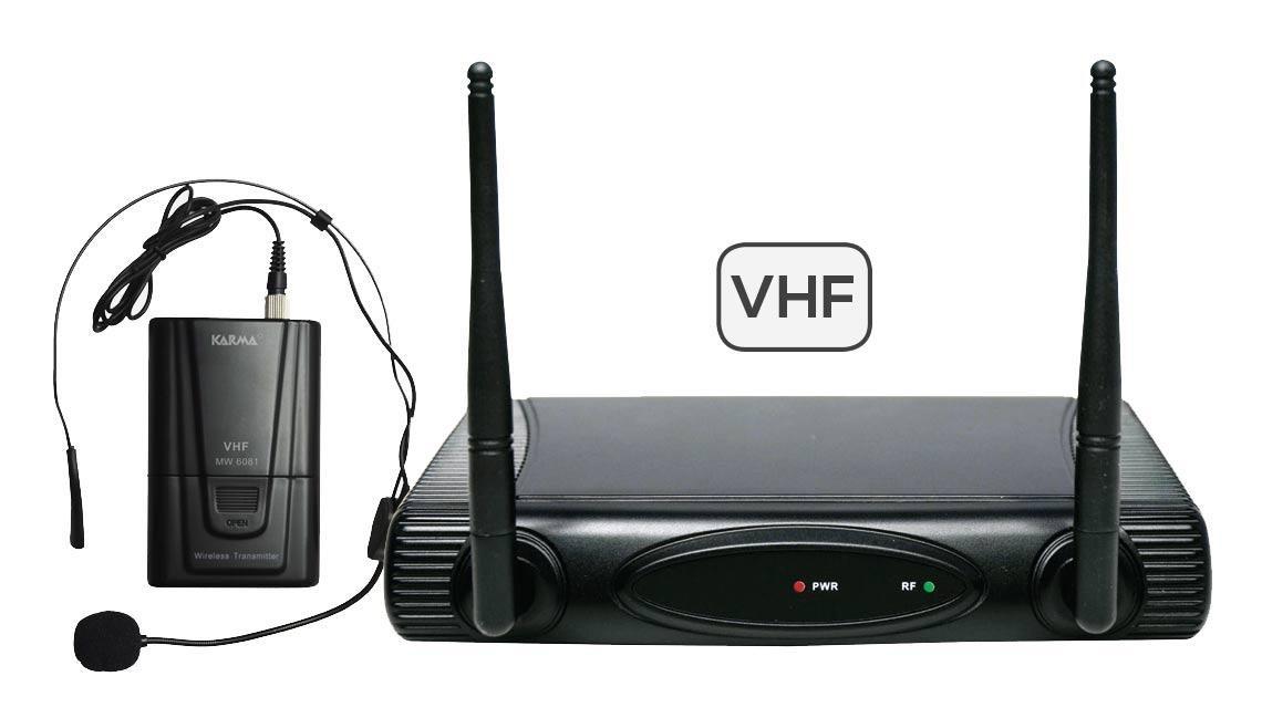 KARMA SET 6080LAV-C - Radiomicrofono Lavalier VHF wireless per karaoke, presentazioni - 197,15 mhz